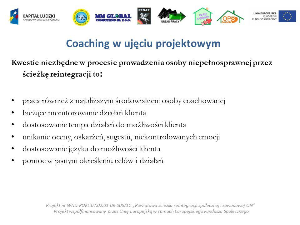 Coaching w ujęciu projektowym