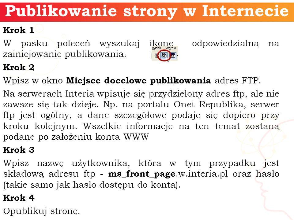 Publikowanie strony w Internecie
