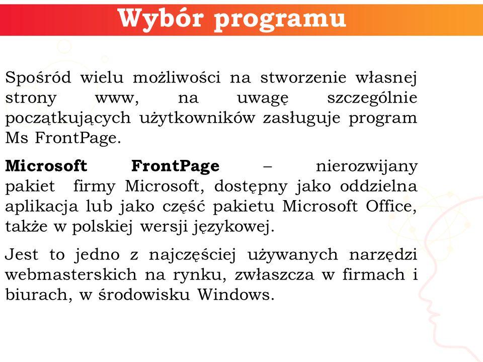 Wybór programu