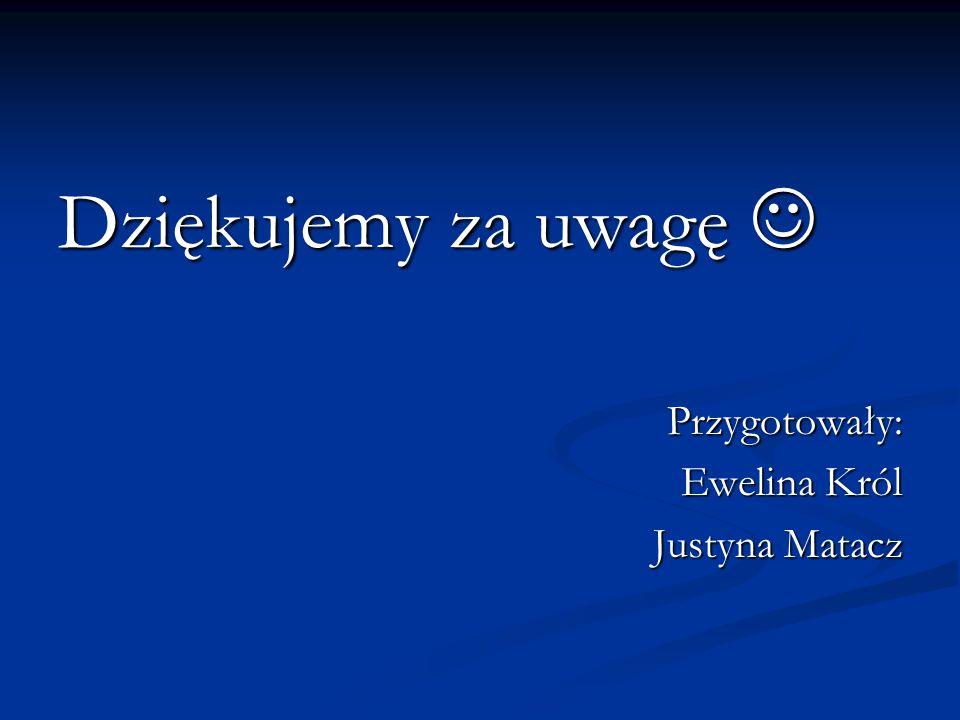 Dziękujemy za uwagę  Przygotowały: Ewelina Król Justyna Matacz