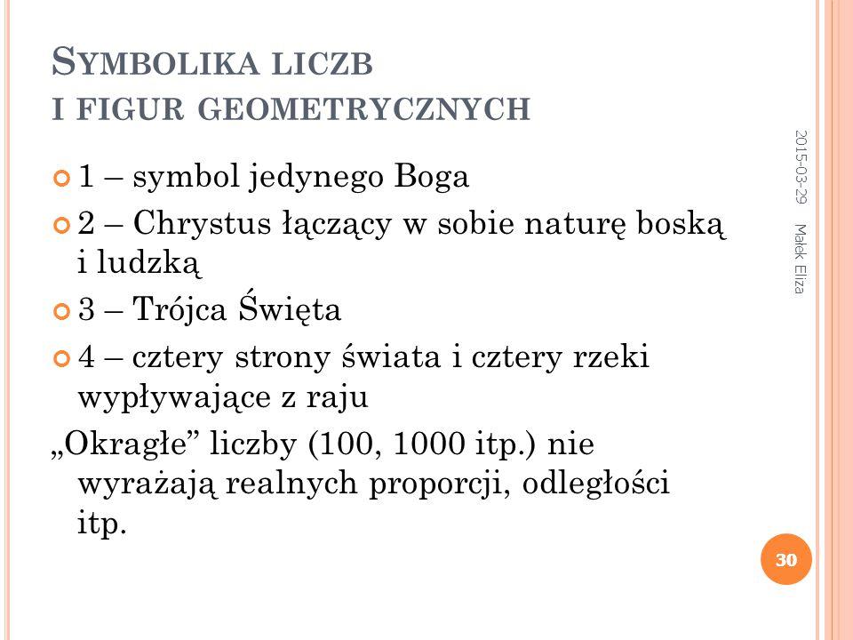 Symbolika liczb i figur geometrycznych