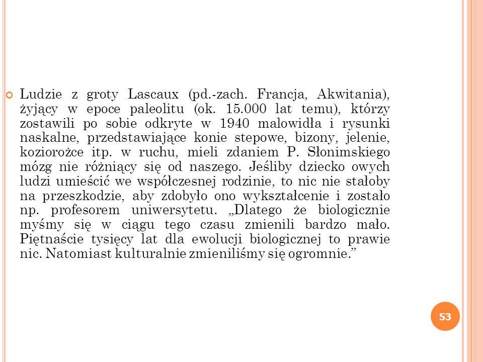 Ludzie z groty Lascaux (pd. -zach