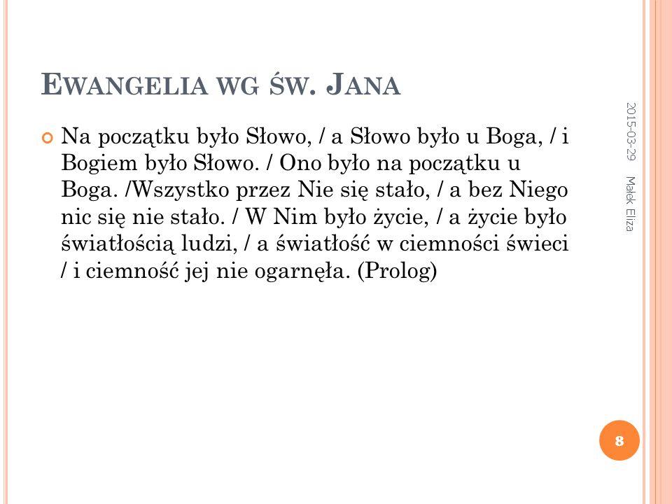 Ewangelia wg św. Jana 2017-04-09.