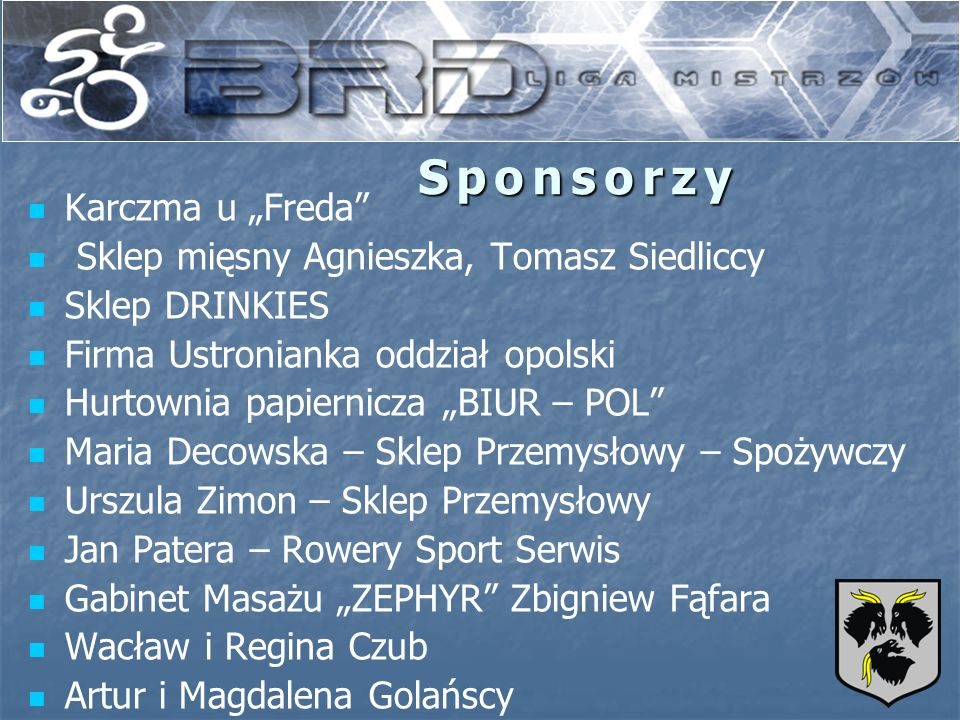 """Sponsorzy Karczma u """"Freda Sklep mięsny Agnieszka, Tomasz Siedliccy"""