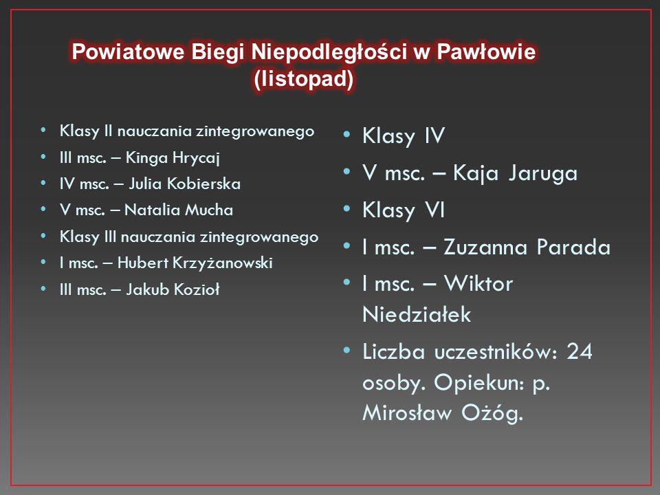 Powiatowe Biegi Niepodległości w Pawłowie (listopad)