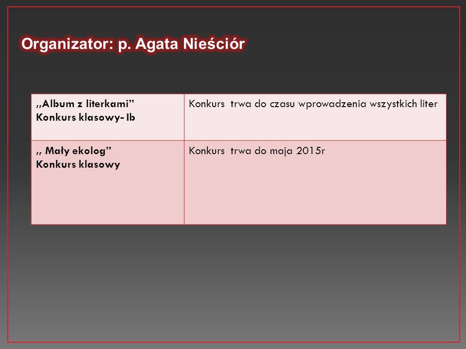 Organizator: p. Agata Nieściór