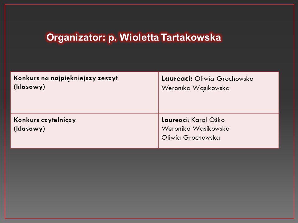 Organizator: p. Wioletta Tartakowska