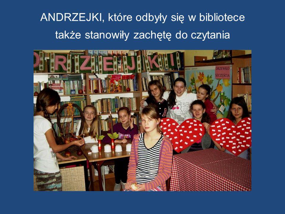 ANDRZEJKI, które odbyły się w bibliotece także stanowiły zachętę do czytania