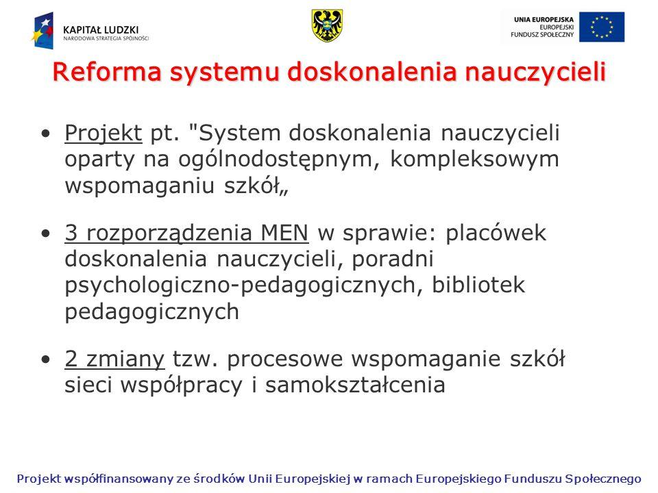 Reforma systemu doskonalenia nauczycieli