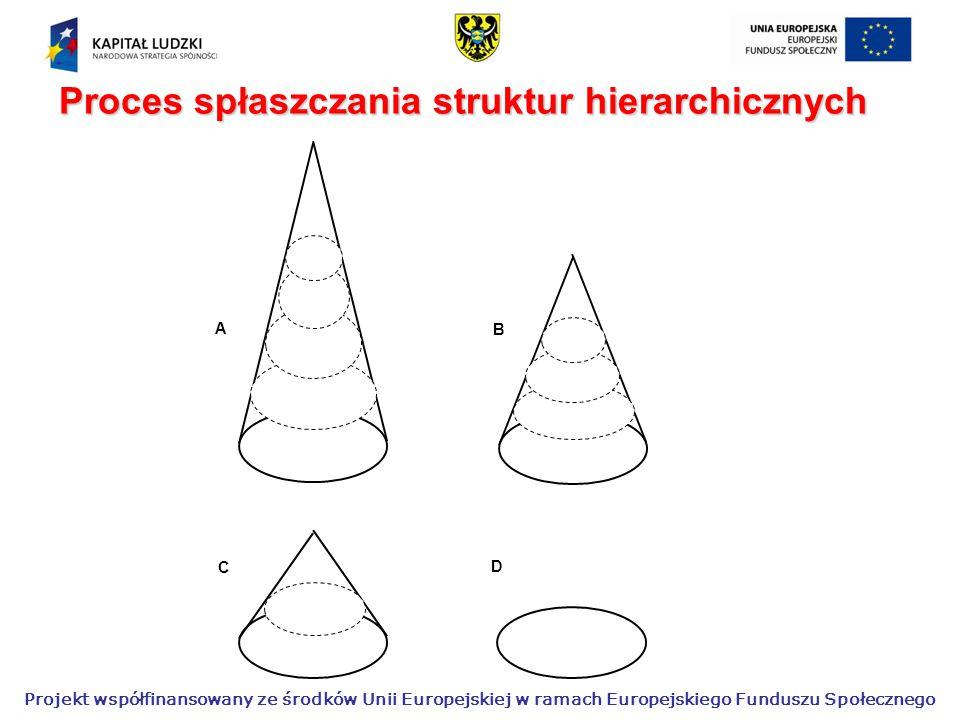 Proces spłaszczania struktur hierarchicznych