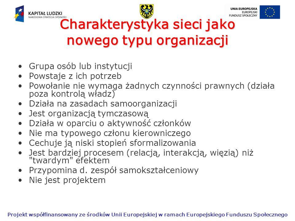 Charakterystyka sieci jako nowego typu organizacji