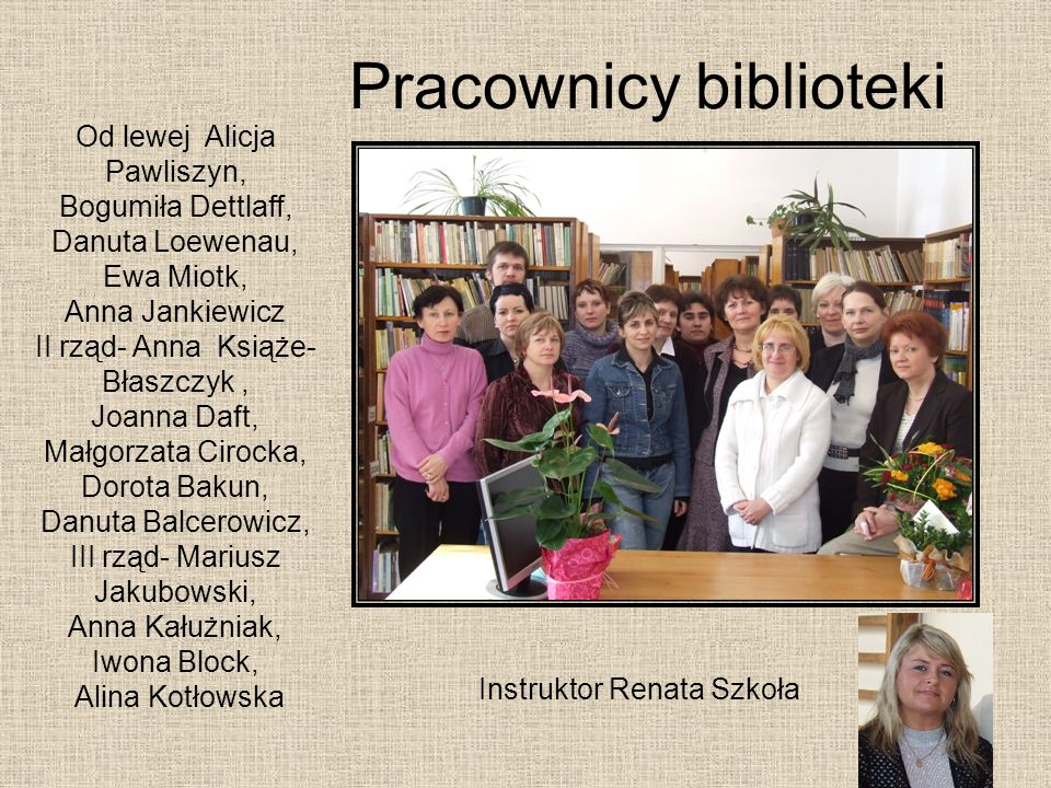 Pracownicy biblioteki