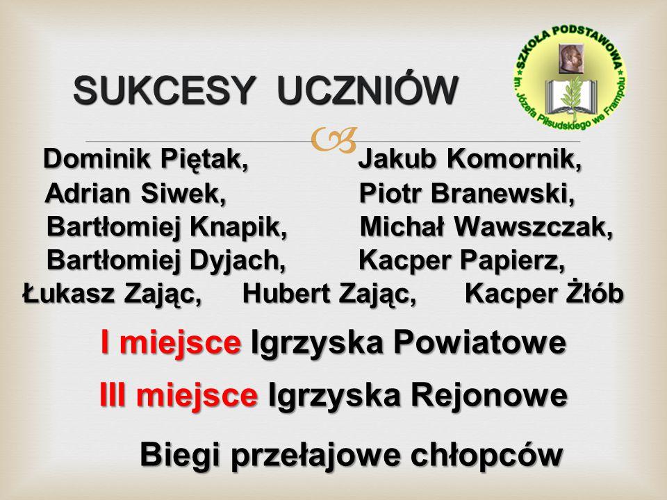 SUKCESY UCZNIÓW Dominik Piętak, Jakub Komornik,