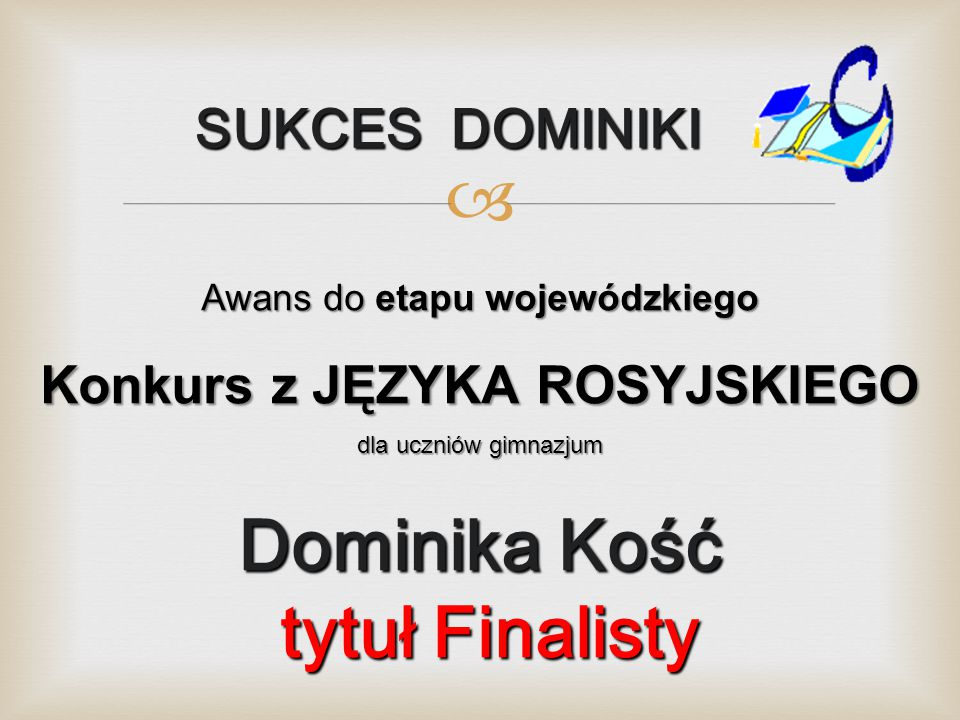 Konkurs z JĘZYKA ROSYJSKIEGO