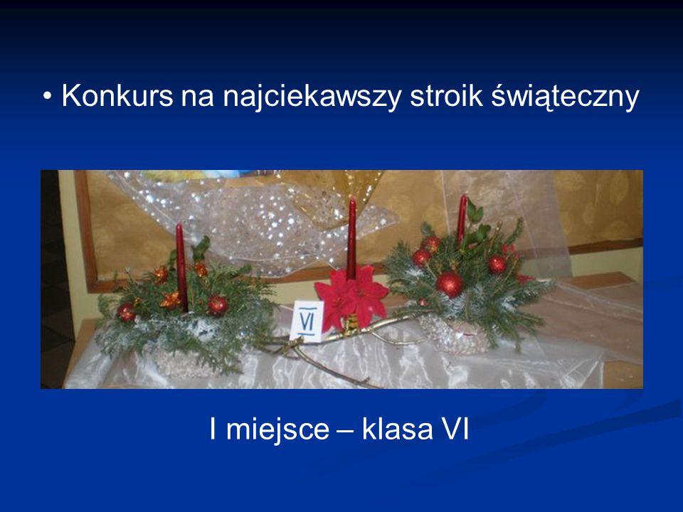 Konkurs na najciekawszy stroik świąteczny