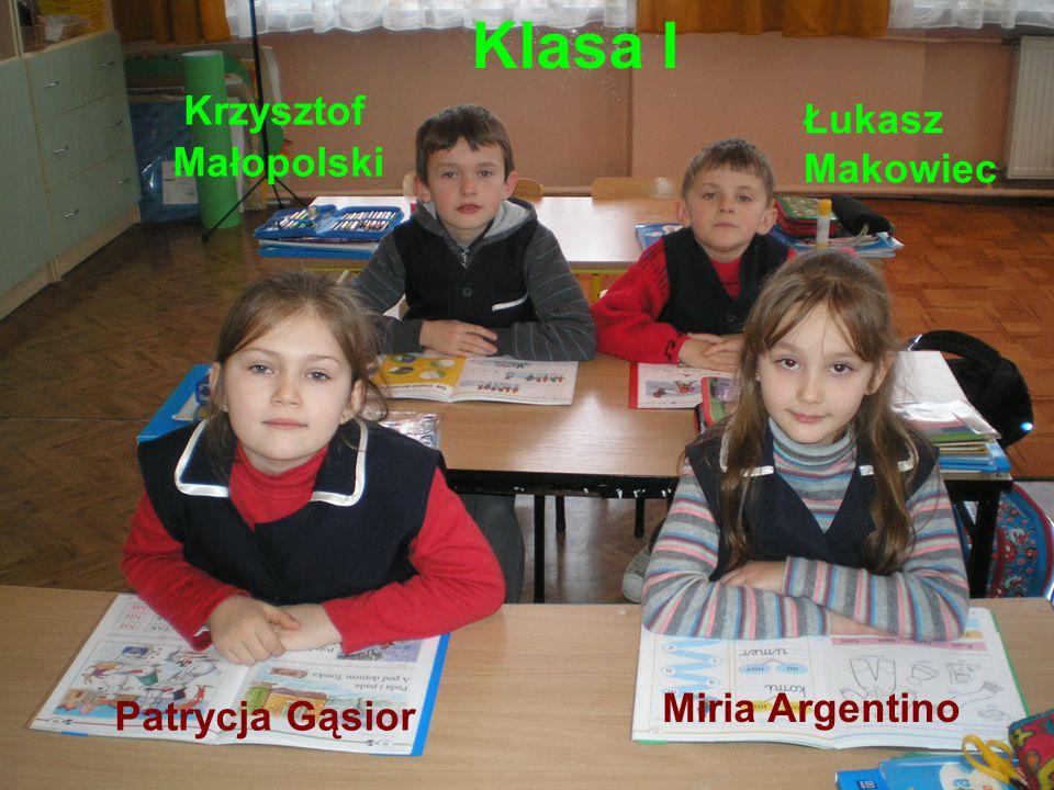 Klasa I Krzysztof Łukasz Małopolski Makowiec Miria Argentino