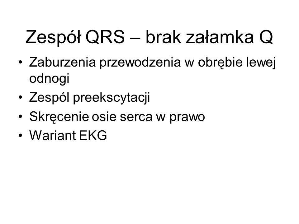 Zespół QRS – brak załamka Q