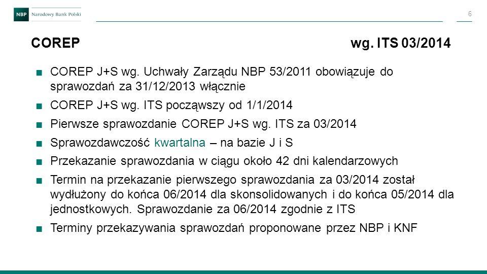 COREP wg. ITS 03/2014