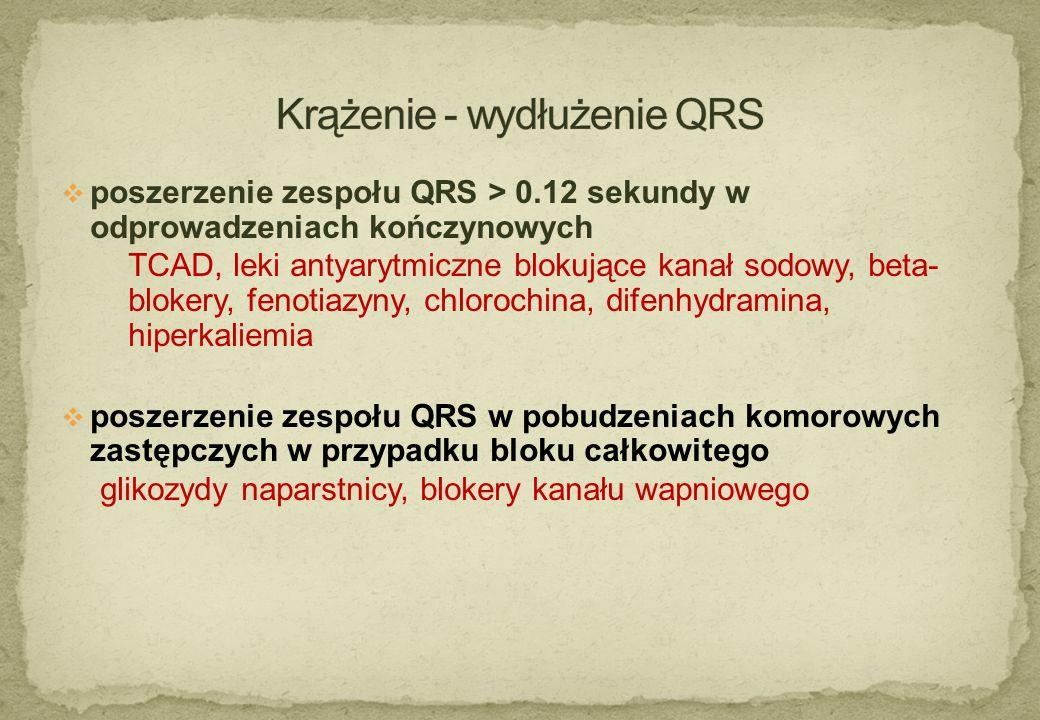 Krążenie - wydłużenie QRS