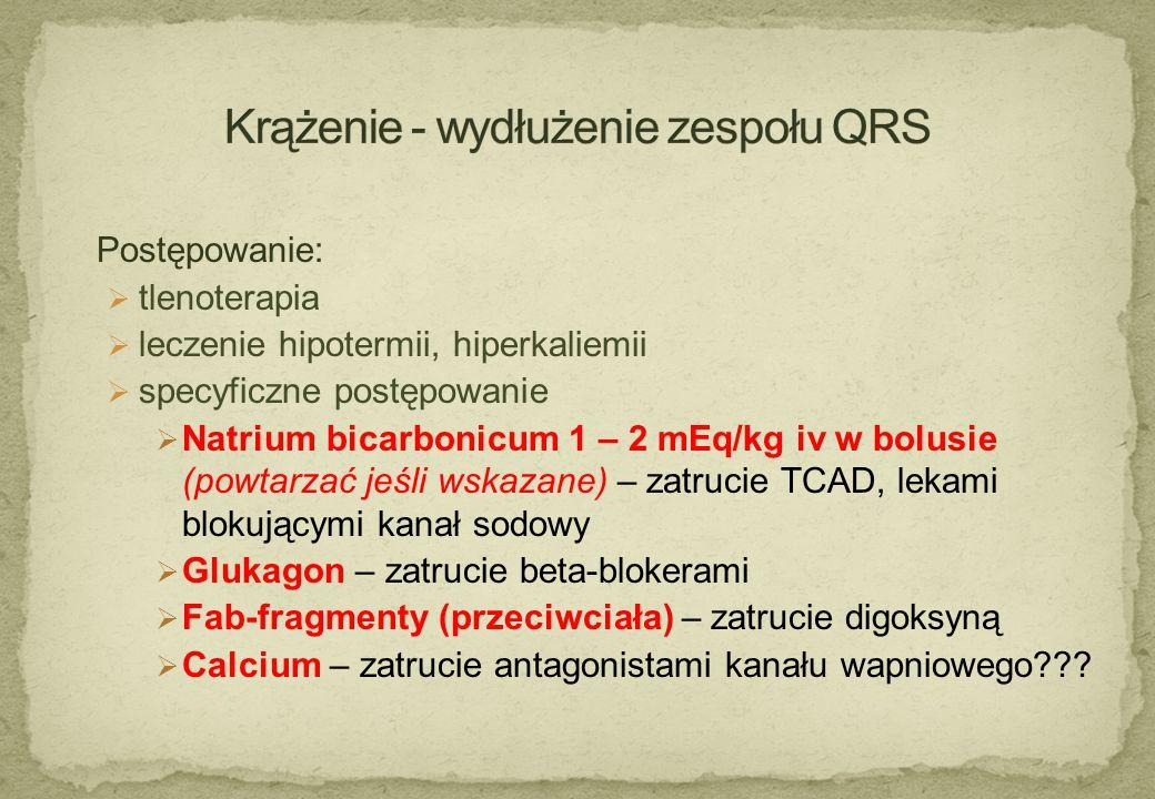Krążenie - wydłużenie zespołu QRS