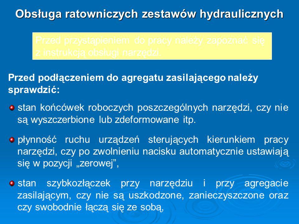 Obsługa ratowniczych zestawów hydraulicznych