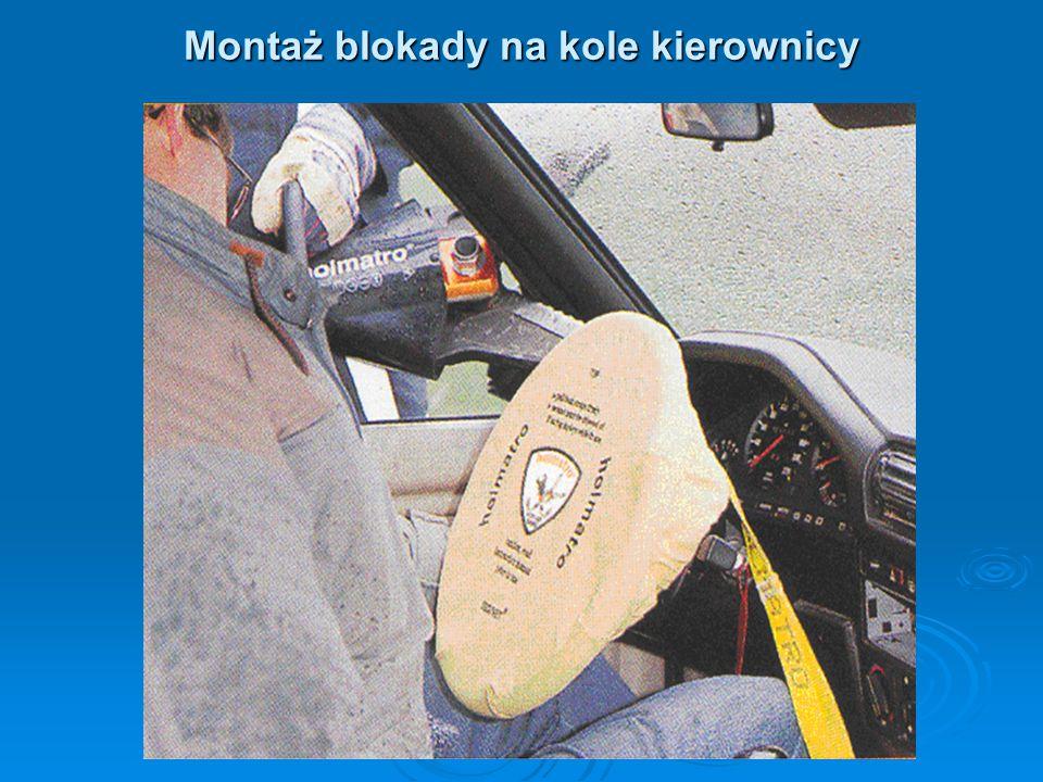Montaż blokady na kole kierownicy