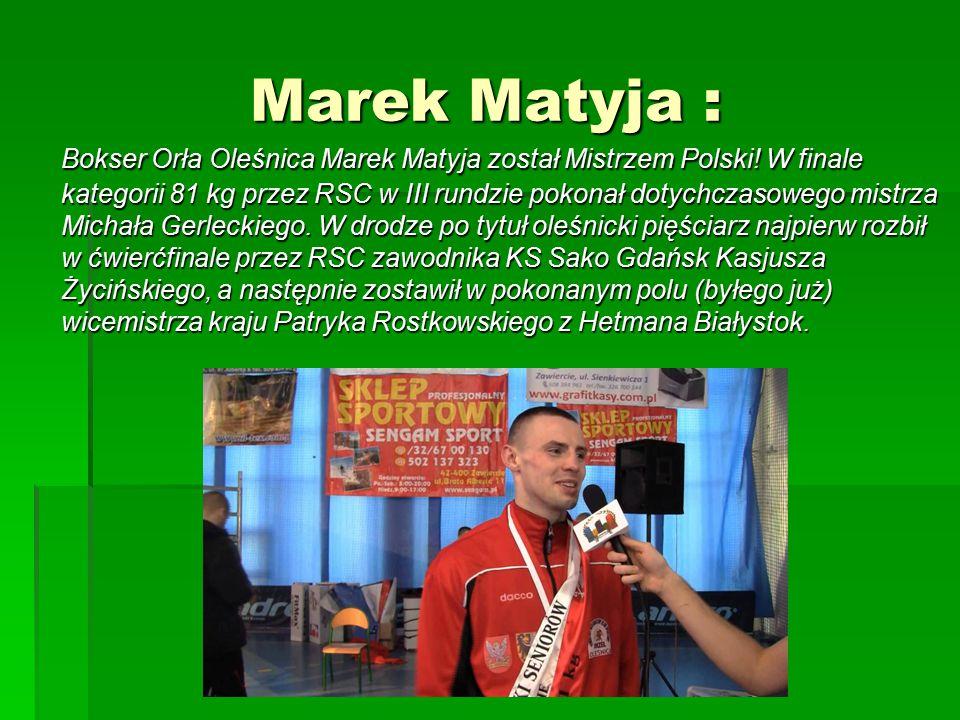 Marek Matyja :