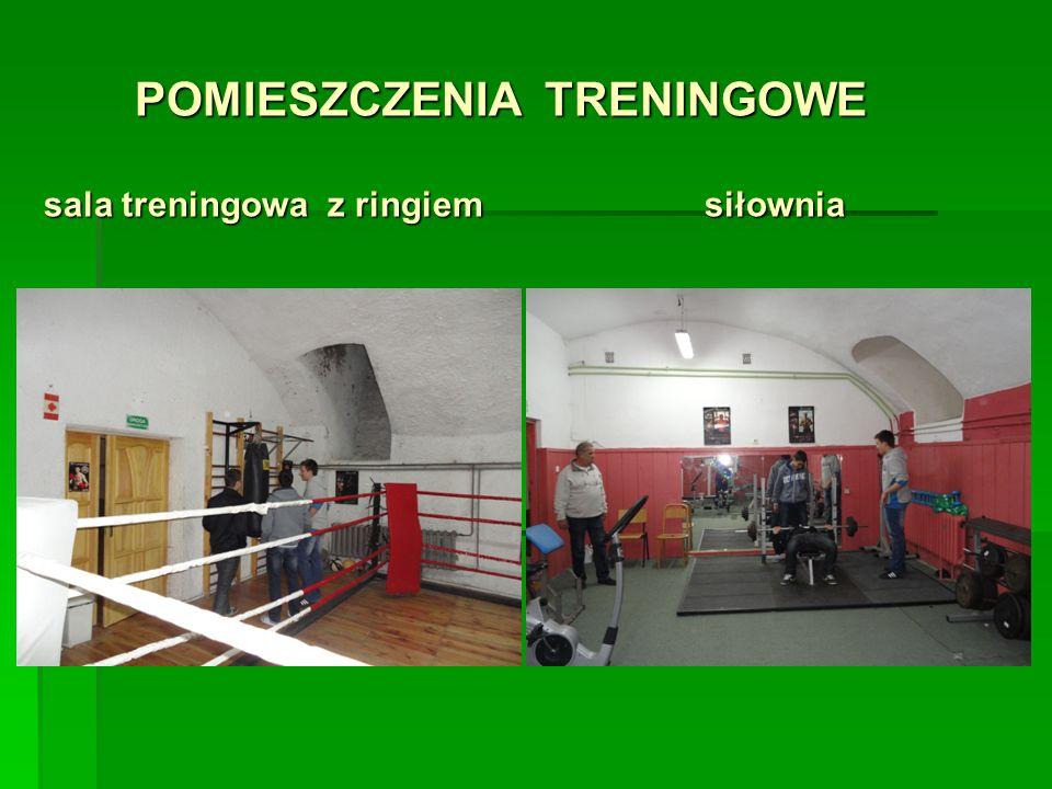 POMIESZCZENIA TRENINGOWE sala treningowa z ringiem siłownia