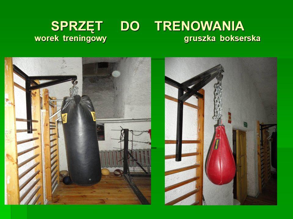 SPRZĘT DO TRENOWANIA worek treningowy gruszka bokserska