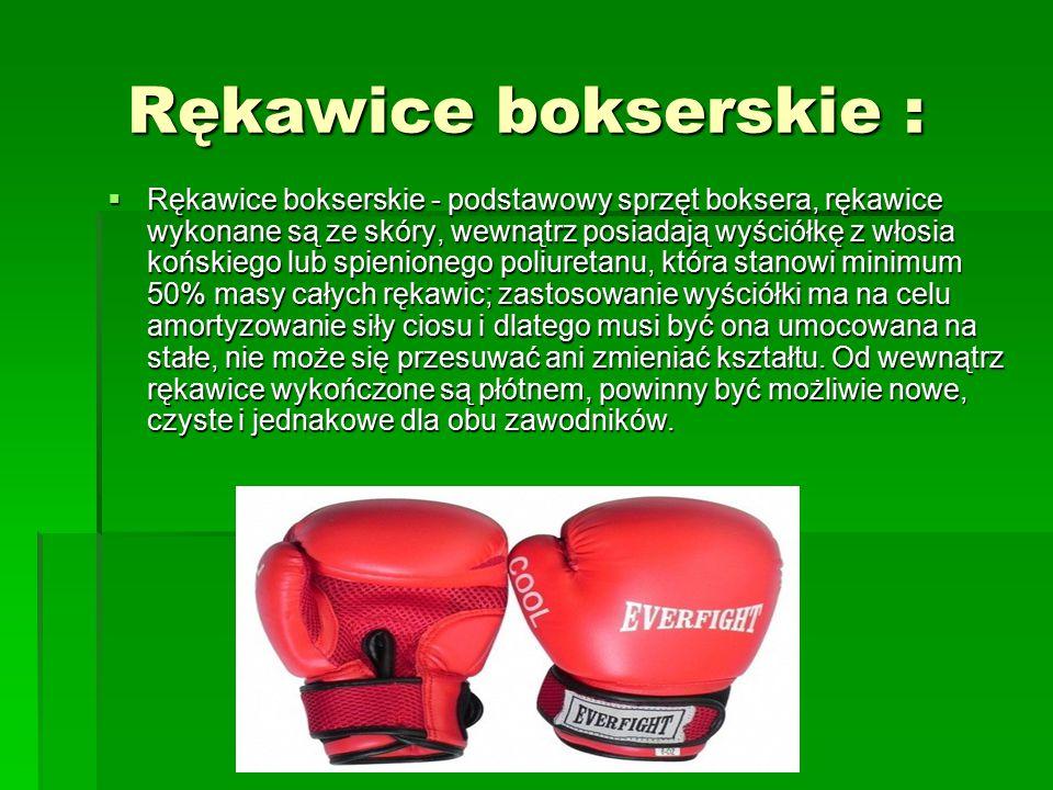 Rękawice bokserskie :