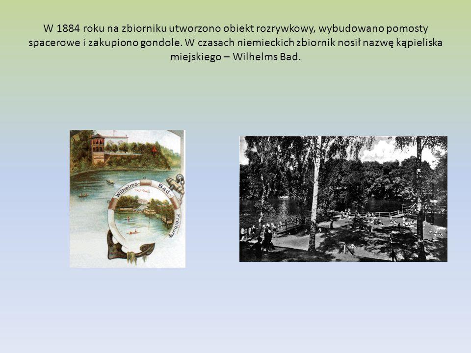 W 1884 roku na zbiorniku utworzono obiekt rozrywkowy, wybudowano pomosty spacerowe i zakupiono gondole.