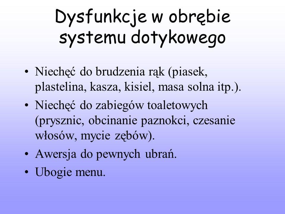 Dysfunkcje w obrębie systemu dotykowego