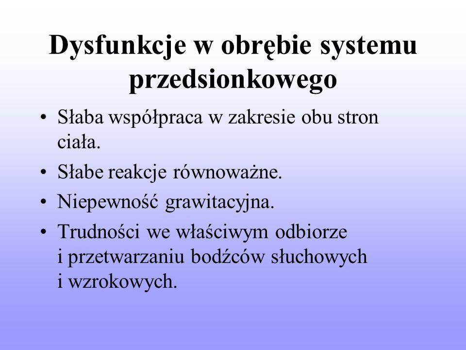 Dysfunkcje w obrębie systemu przedsionkowego