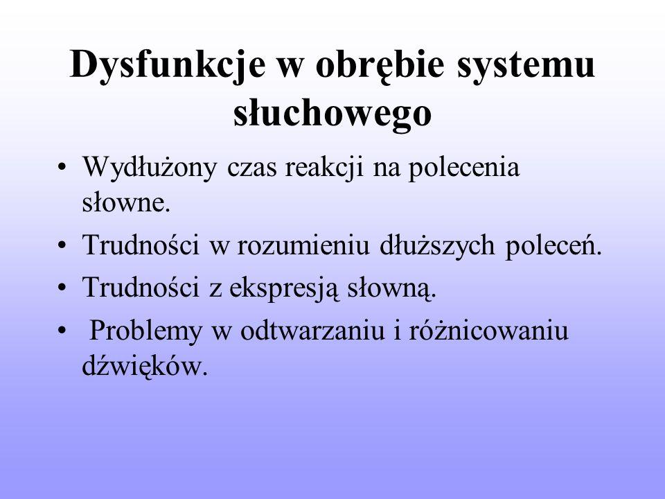 Dysfunkcje w obrębie systemu słuchowego