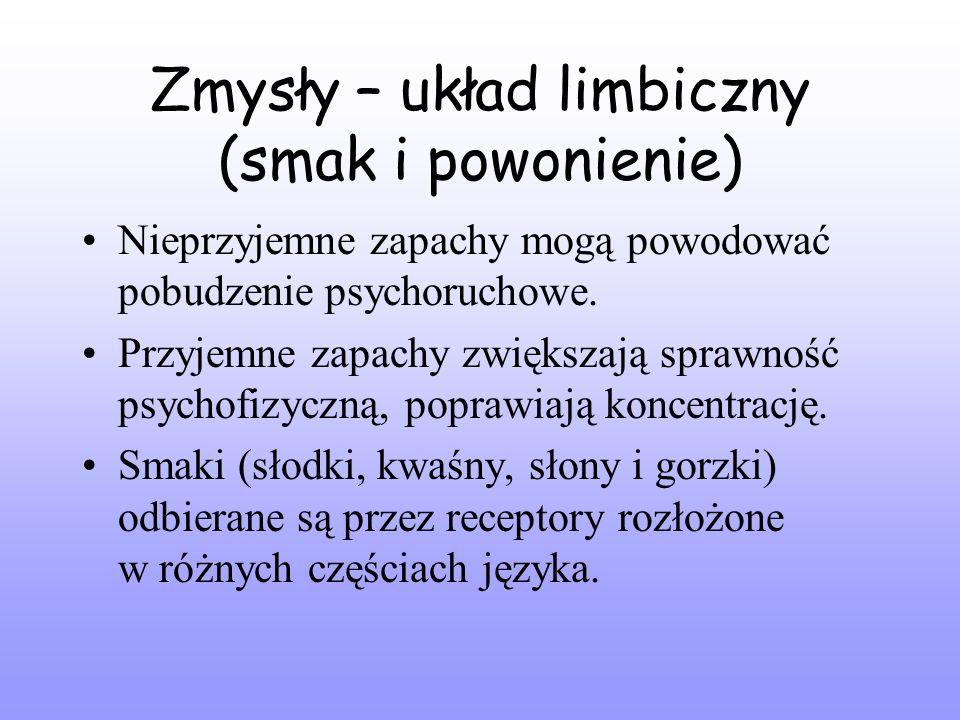 Zmysły – układ limbiczny (smak i powonienie)