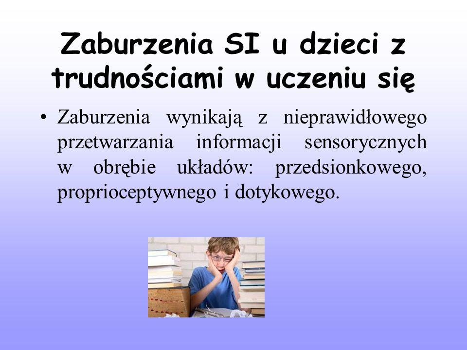 Zaburzenia SI u dzieci z trudnościami w uczeniu się