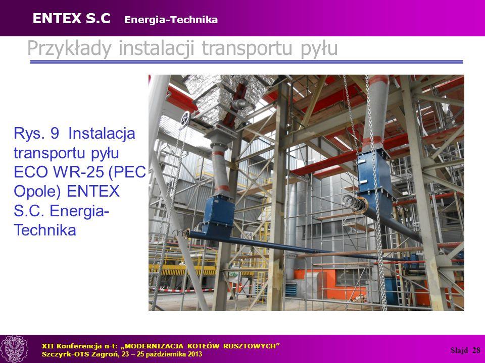 Przykłady instalacji transportu pyłu