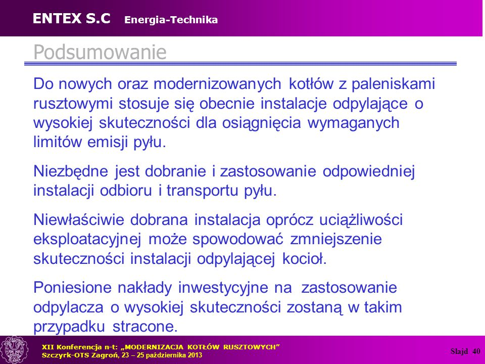 ENTEX S.C Energia-Technika