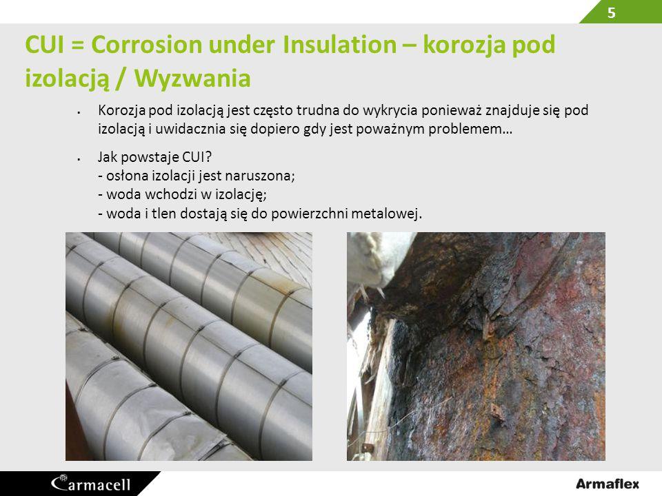 CUI = Corrosion under Insulation – korozja pod izolacją / Wyzwania