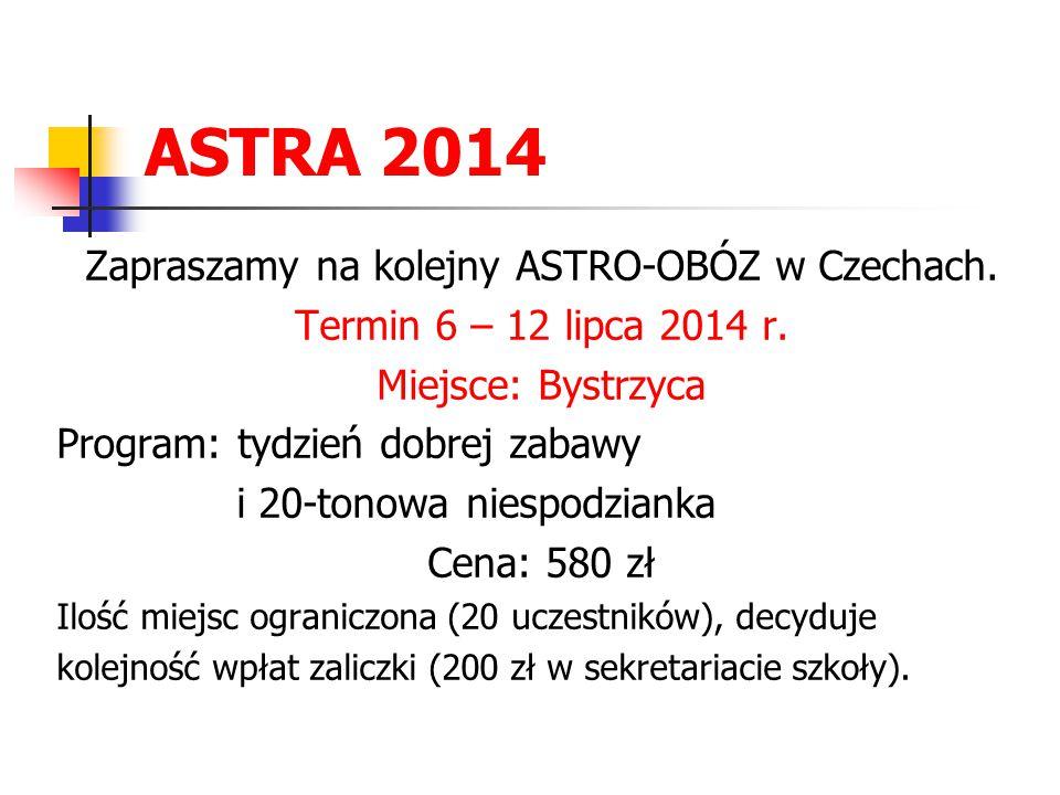 Zapraszamy na kolejny ASTRO-OBÓZ w Czechach.