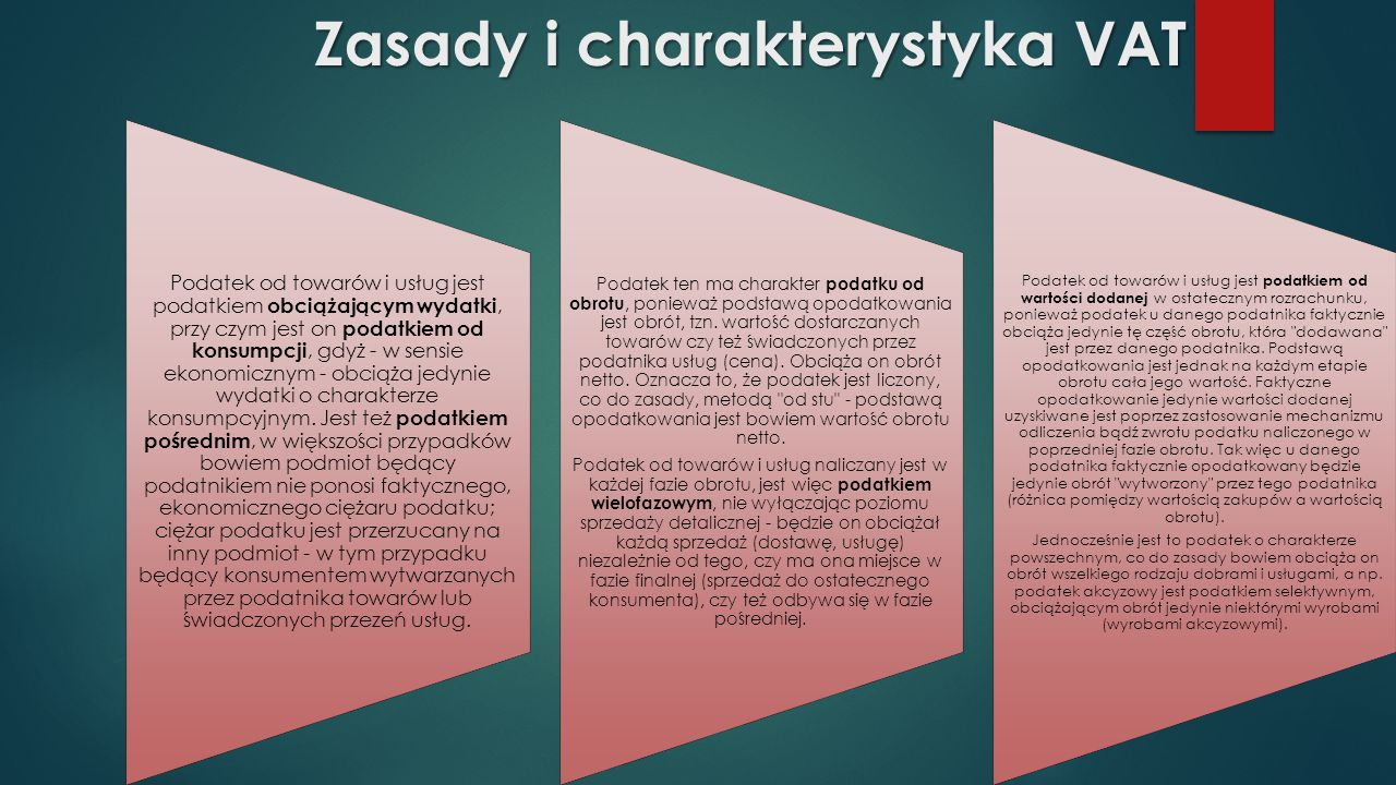 Zasady i charakterystyka VAT