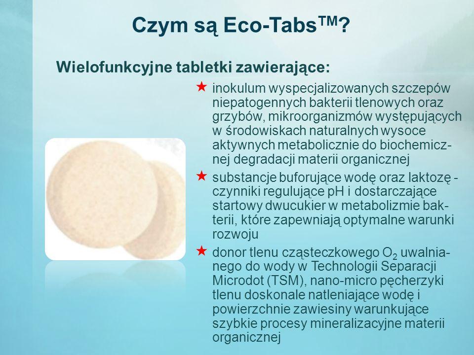Czym są Eco-TabsTM Wielofunkcyjne tabletki zawierające: