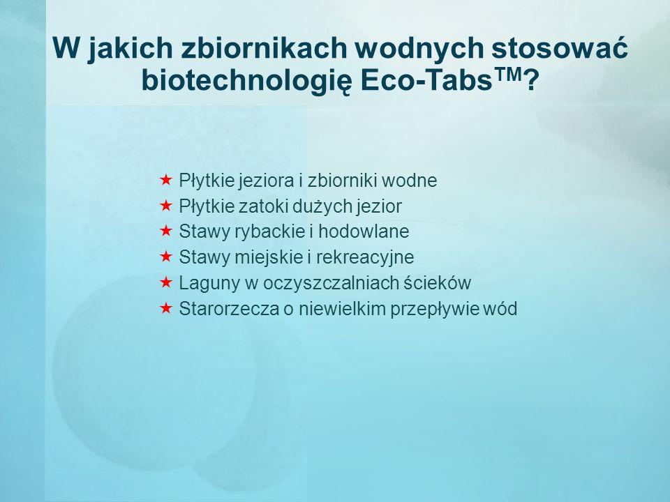 W jakich zbiornikach wodnych stosować biotechnologię Eco-TabsTM