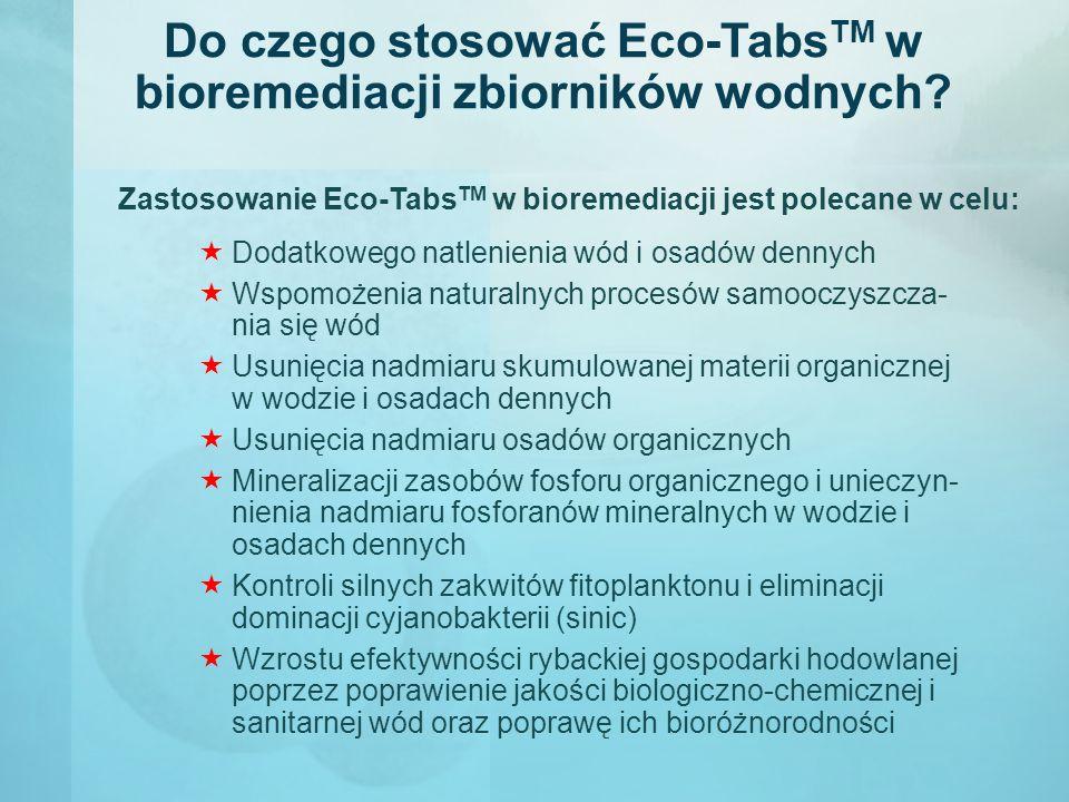 Do czego stosować Eco-TabsTM w bioremediacji zbiorników wodnych