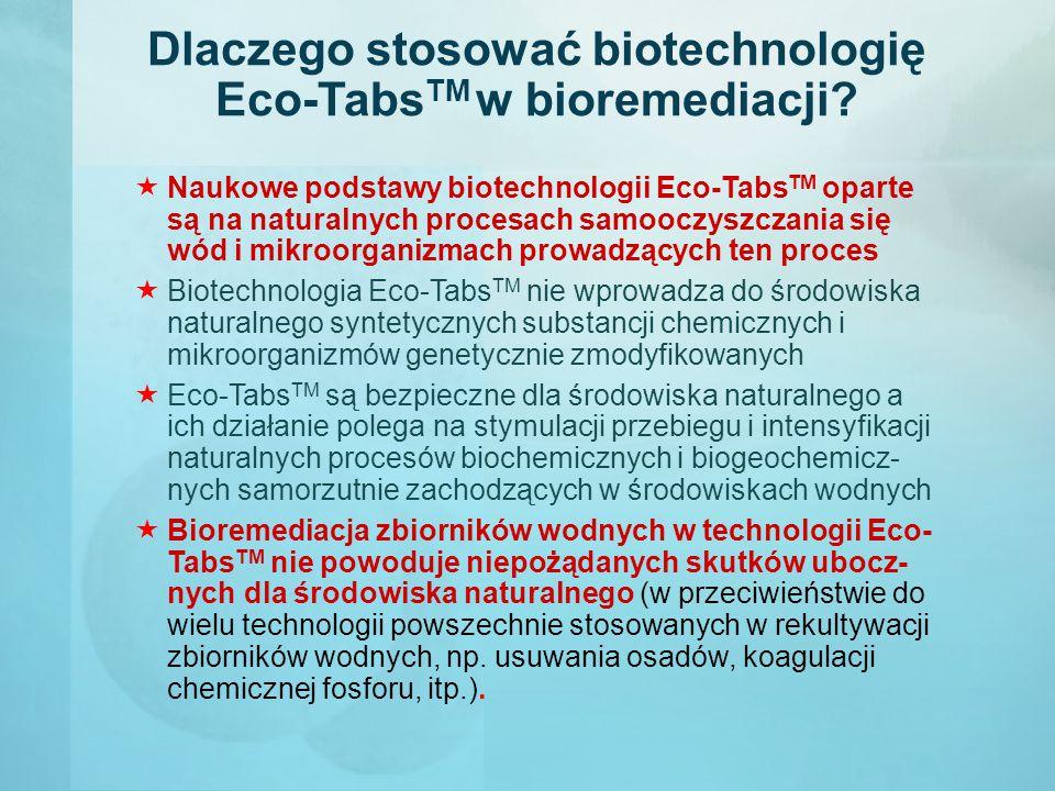 Dlaczego stosować biotechnologię Eco-TabsTM w bioremediacji