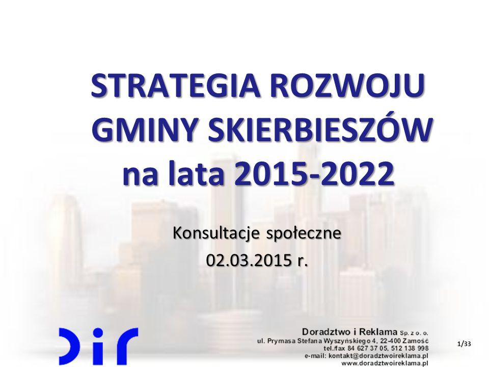 STRATEGIA ROZWOJU GMINY SKIERBIESZÓW na lata 2015-2022