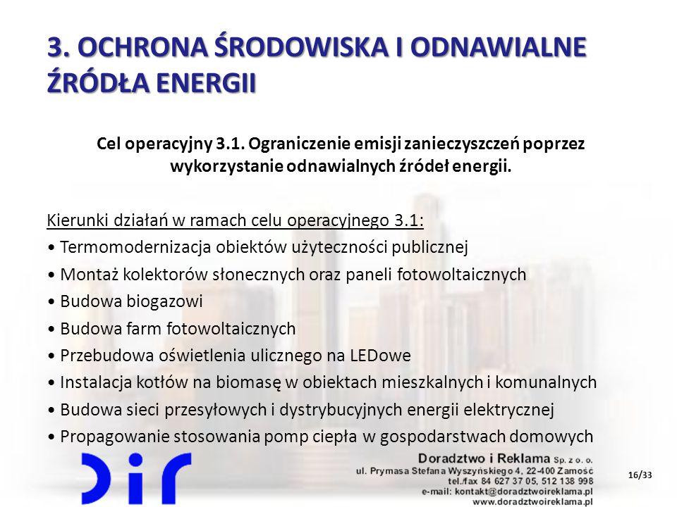 3. OCHRONA ŚRODOWISKA I ODNAWIALNE ŹRÓDŁA ENERGII