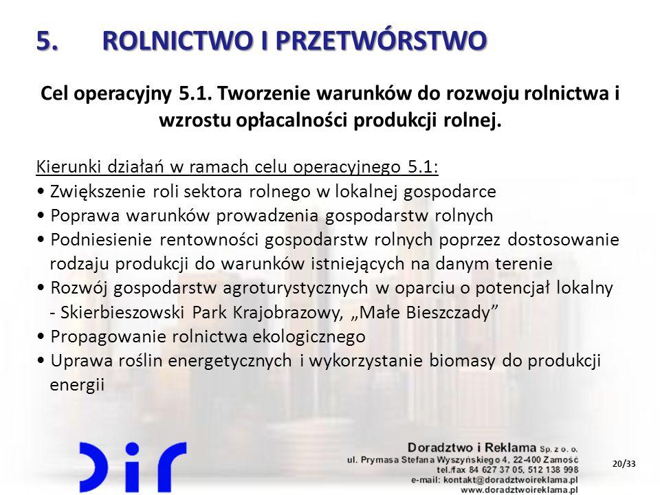 5. ROLNICTWO I PRZETWÓRSTWO