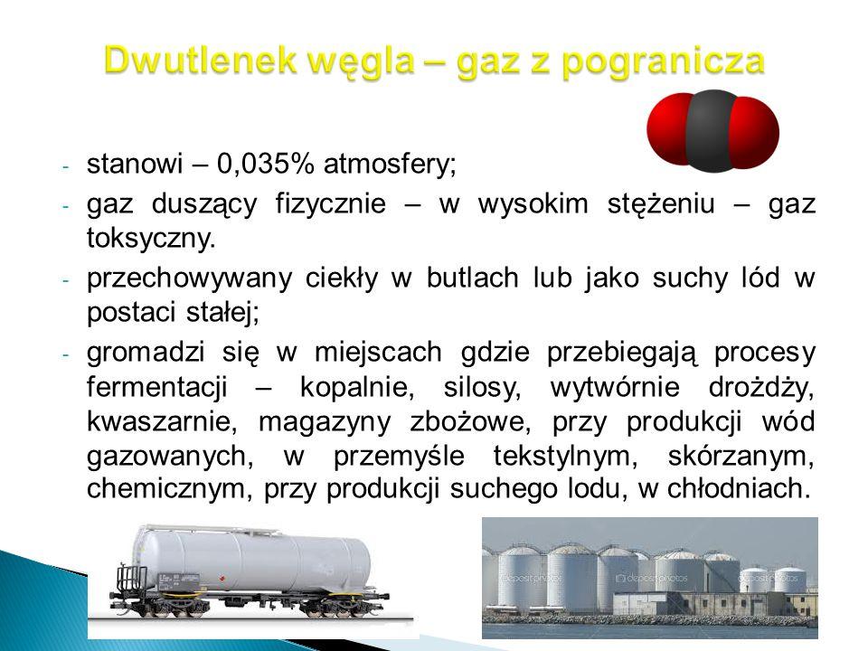 Dwutlenek węgla – gaz z pogranicza
