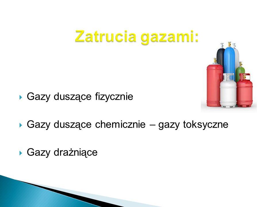 Zatrucia gazami: Gazy duszące fizycznie